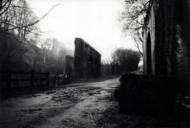 Abandoned Rail Line Nikon FM 28mm Ilford FP4 125
