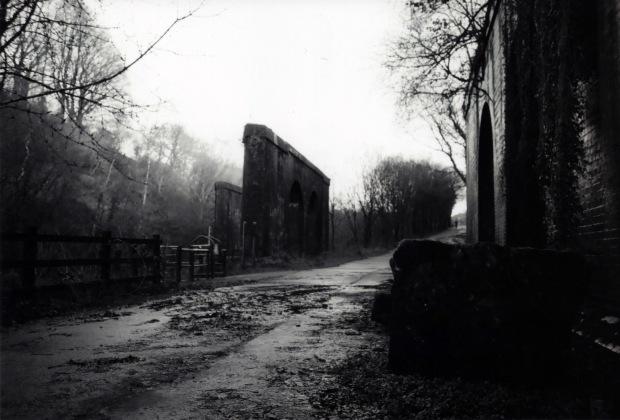 Abandoned Rail Line Nikon FM 28mm Ilford FP4 125