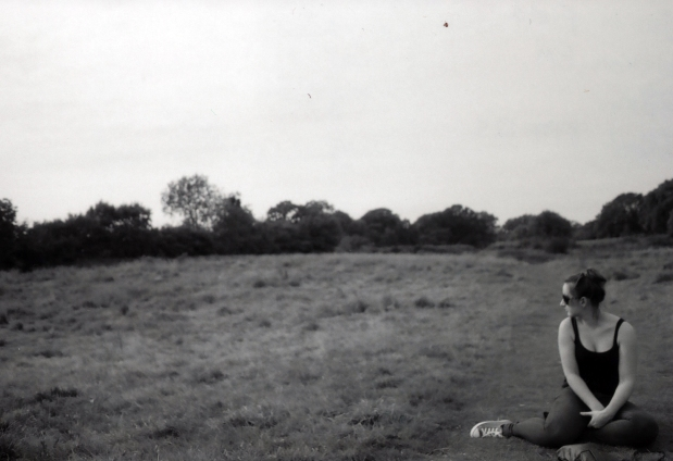 Jo in Field Nikon FM 28mm Ilford Fp4 125