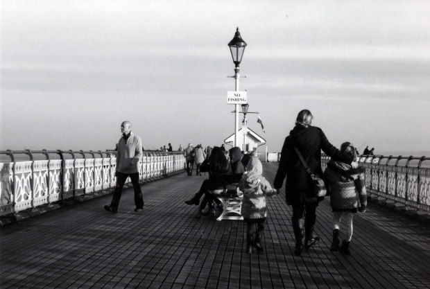 Walk on the Pier Canon AE-1 Program 50mm Ilford FP4 125