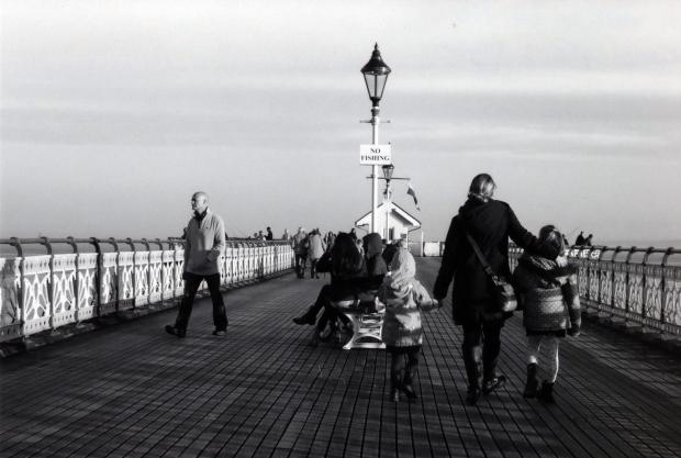 Walk on the Pier Canon AE-1 Program 50mm Ilford FP4 125
