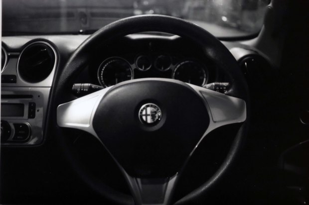 Steering Wheel, Ilford FP4 125, f2