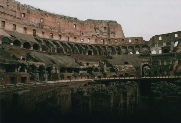 Colloseum ground level 28mm Agfa Vista Plus 200 f8 250th sec