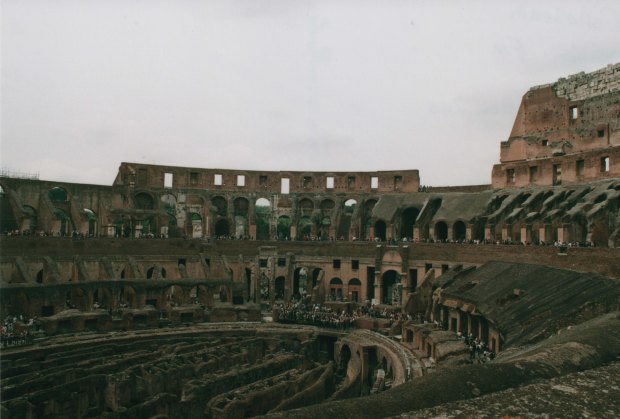 Colloseum Sign 28mm Agfa Vista Plus 200 f11 250th sec